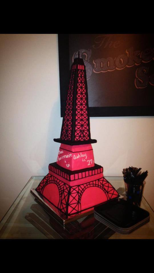 Eiffel Tower Birthday Cake