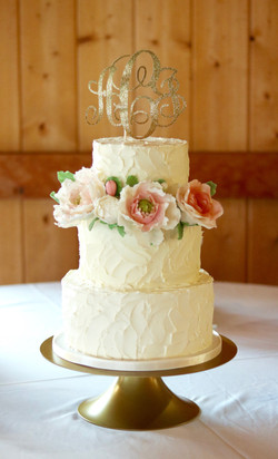 Rustic Buttercream Cake with Sugar Flowers