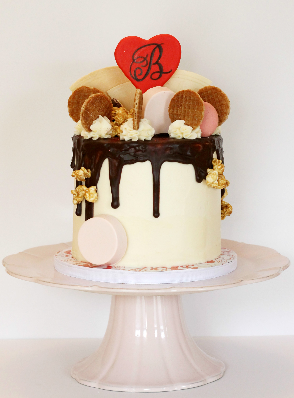 Valentine's Day Drip Cake
