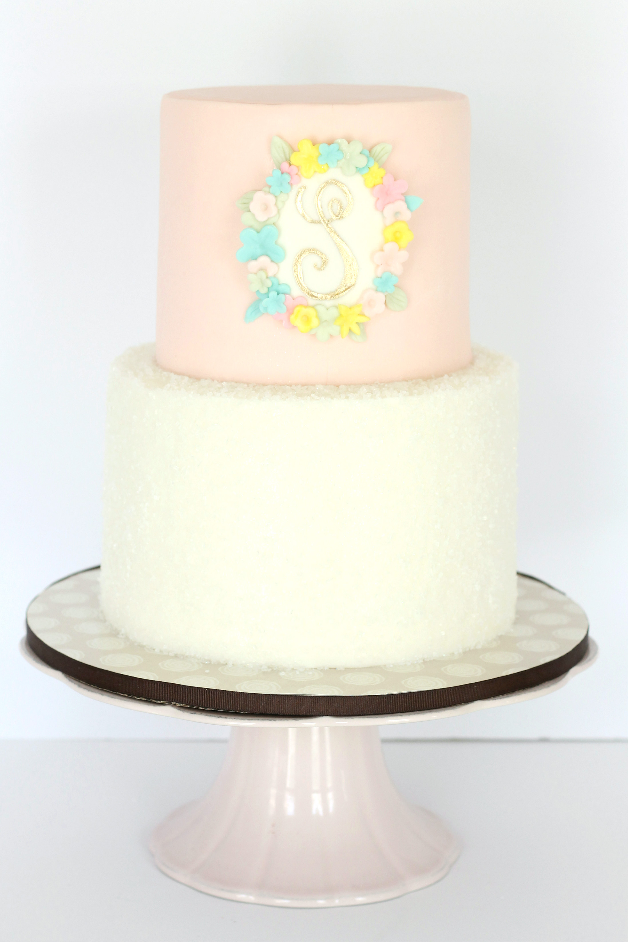 Floral Monogram Cake