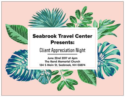 Seabrook Travel Presents: Client Appreciation Night