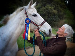 Equestrian portrait afetr competition