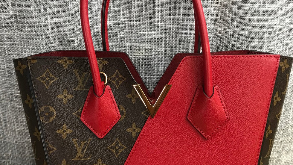 Authentic LOUIS VUITTON Kimono PM Red Cerise Tote