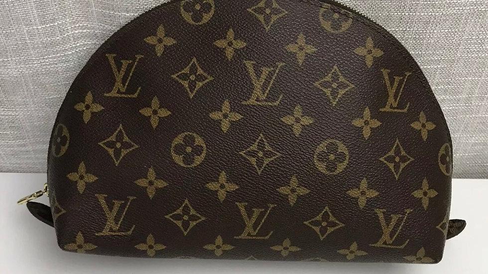 AUTHENTIC Vintage LV Louis Vuitton Cosmetic Pouch Demi RONDE GM Monogram