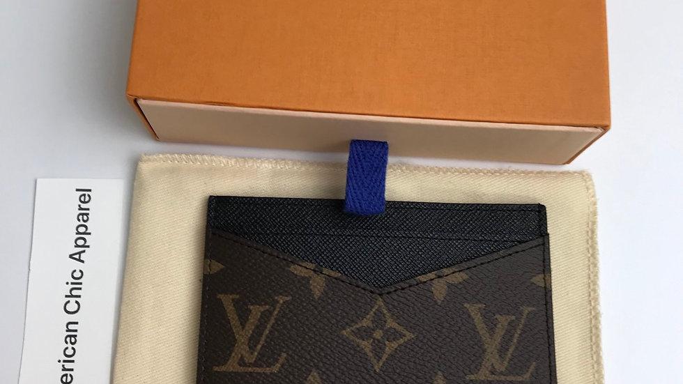 Authentic Louis Vuitton Neo Porte Cartes Monogram Macassar