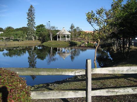 Fence at Cordage Park Pond