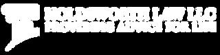 Holdsworth Law LLC White Logo Trans Back