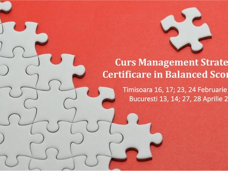 Curs Management Strategic | Certificare in Balanced Scorecard