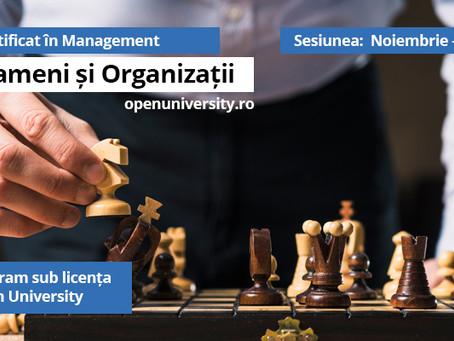 Inscrie-te la Programul de Certificat in Management – licenta Open University UK!
