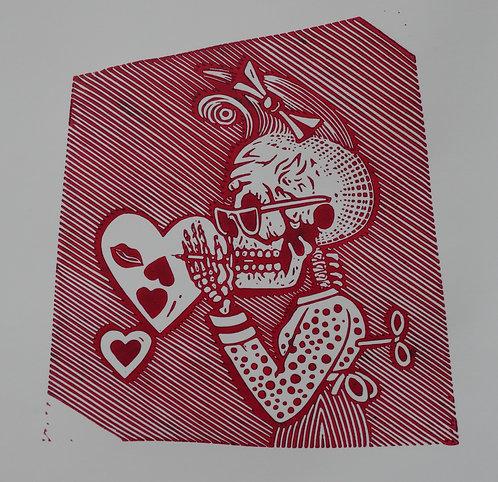Pnk Skull Valetine (Red)