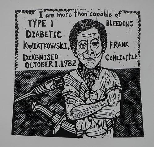 Frank Conecutter Kwiatkowski, Type 1 Diabetic