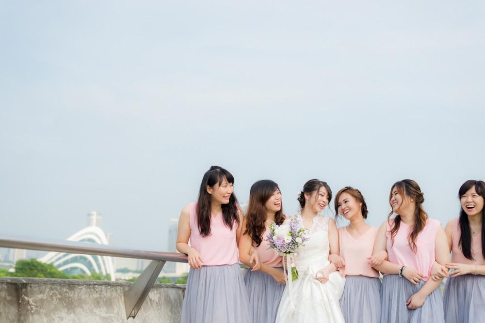 marina barrage wedding day photography