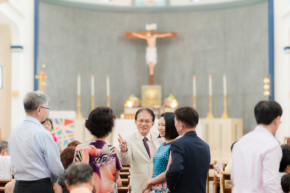 Church of Our Lady Queen of Peace & Fullerton Hotel wedding Singapore