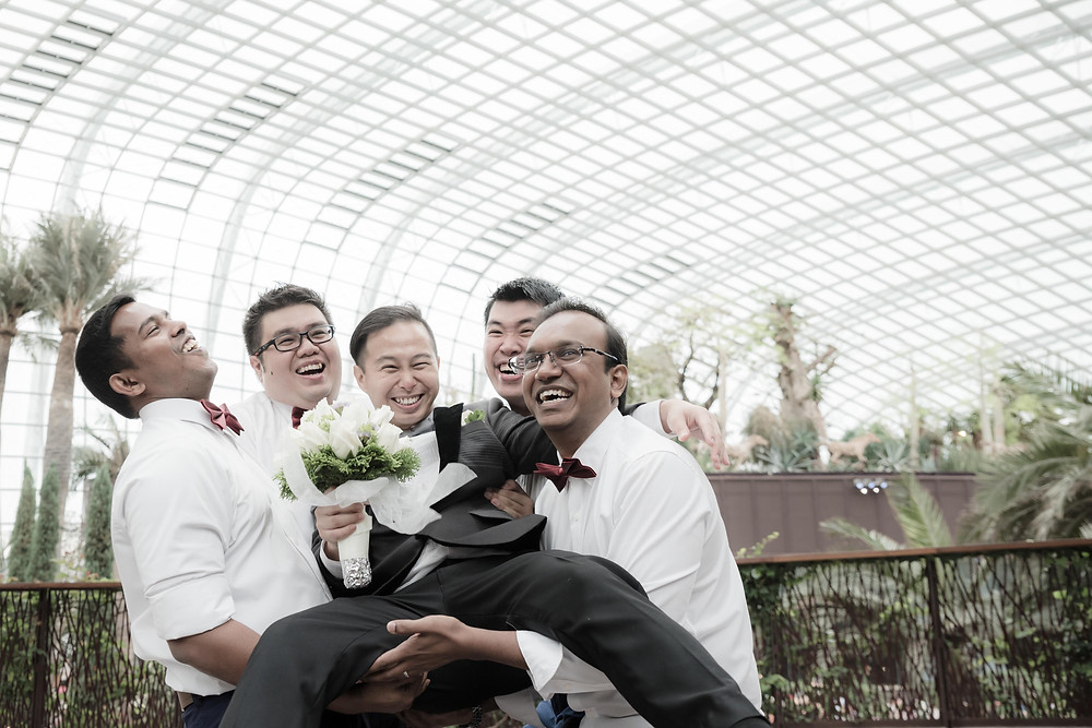 MBS flower dome wedding day photography singapore