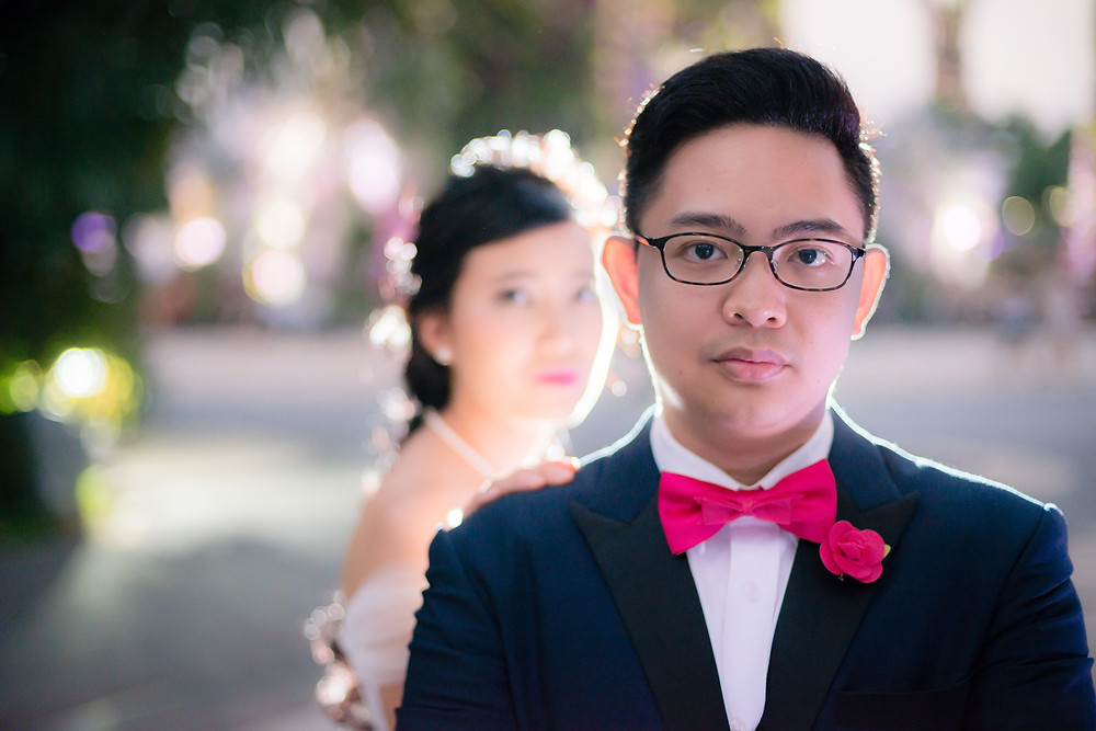 Bedok Reservoir Park, Fullerton Hotel Singapore and Gardens by the Bay pre wedding photography