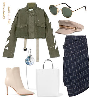Fashionable women's clothing collage str