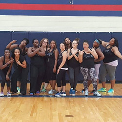 We had a ball getting our Zumba on