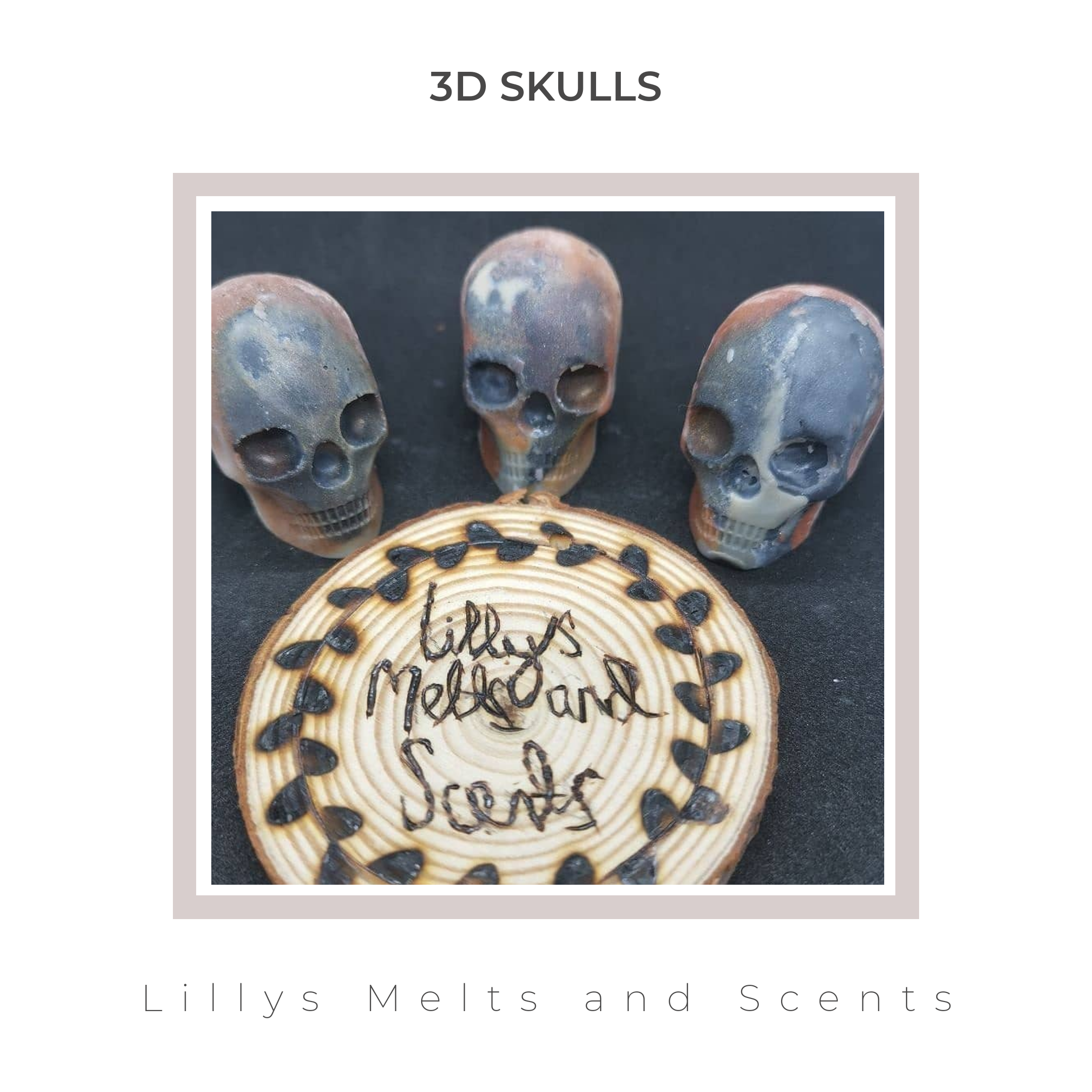 Why not try out spooky 3D skulls