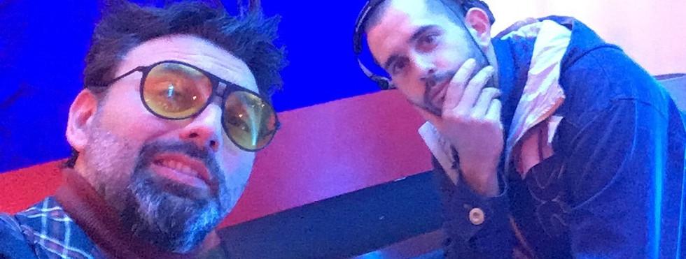 Henri Wahrol et DJ Q à l'anniversaire deBatorama