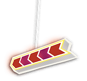 Flashing Purple Arrow