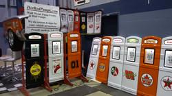 Gas pumps on display