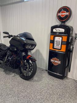 Harley Gas Pump and bike