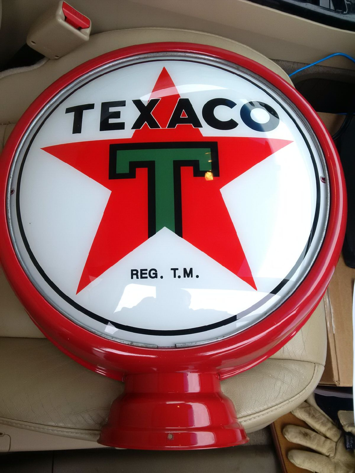 Texaco gas pump globe