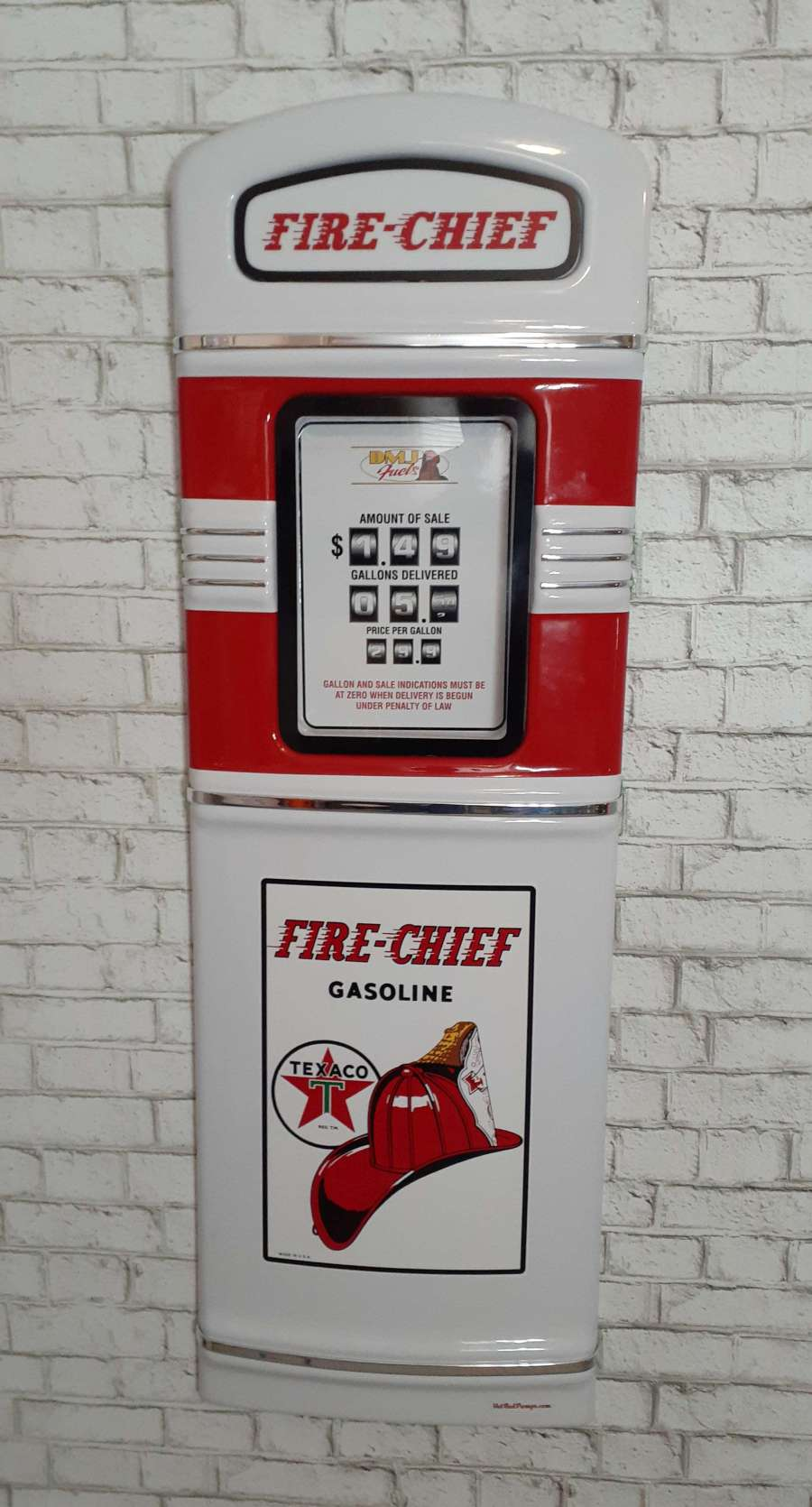 Texaco Fire Chief gas pump front