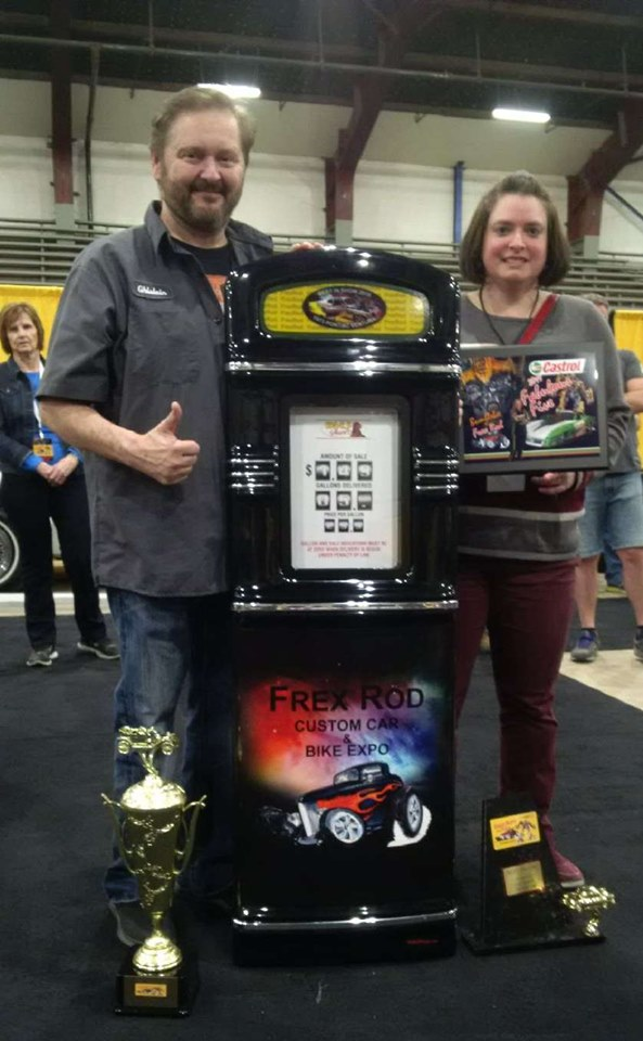Frexrod Car Show Gas Pump Trophy