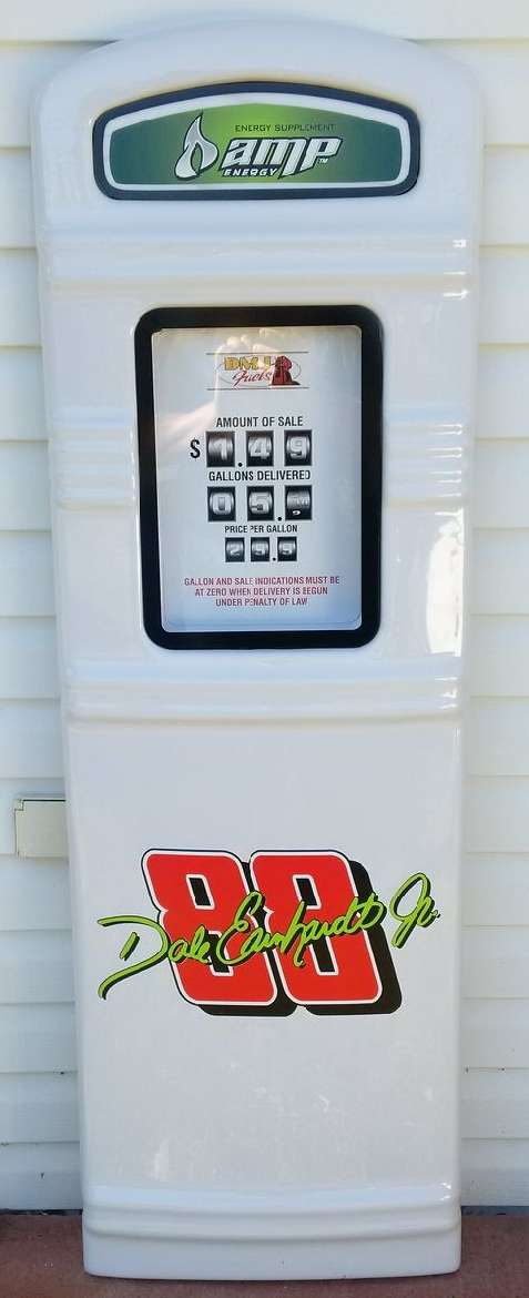 Dale Earnhardt Jr. gas pump front