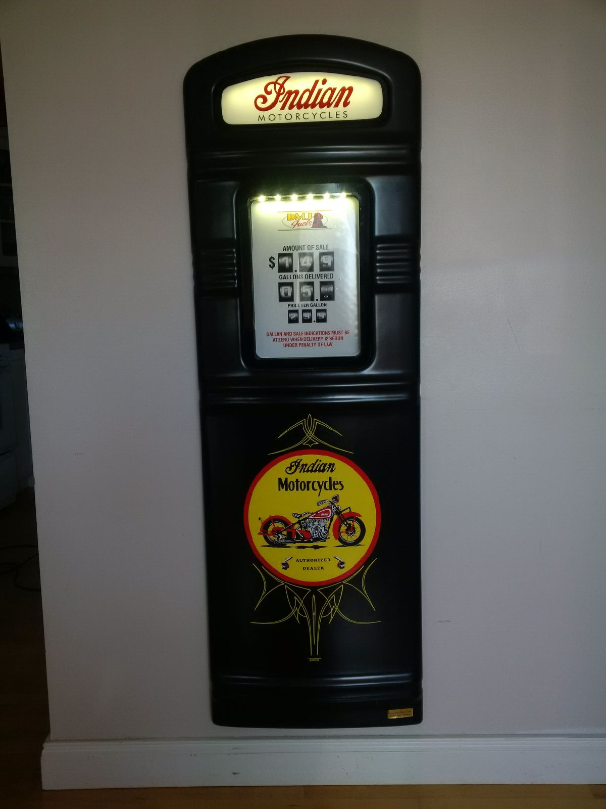 Indian Motorcyles custom gas pump