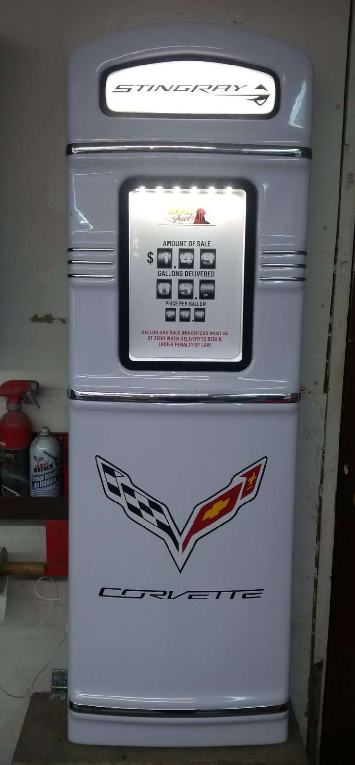 C7 Corvette gas pump