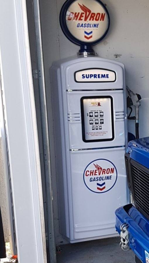 Chevron gas pump