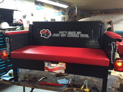 Tailgate bench seat with tail lights