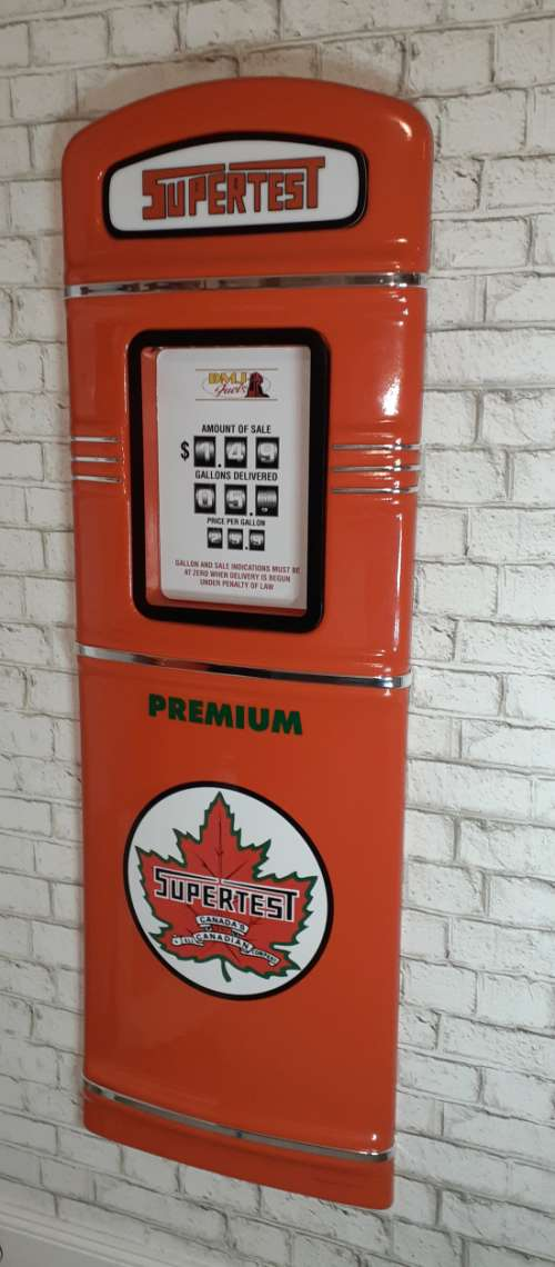 SuperTest gas pump front