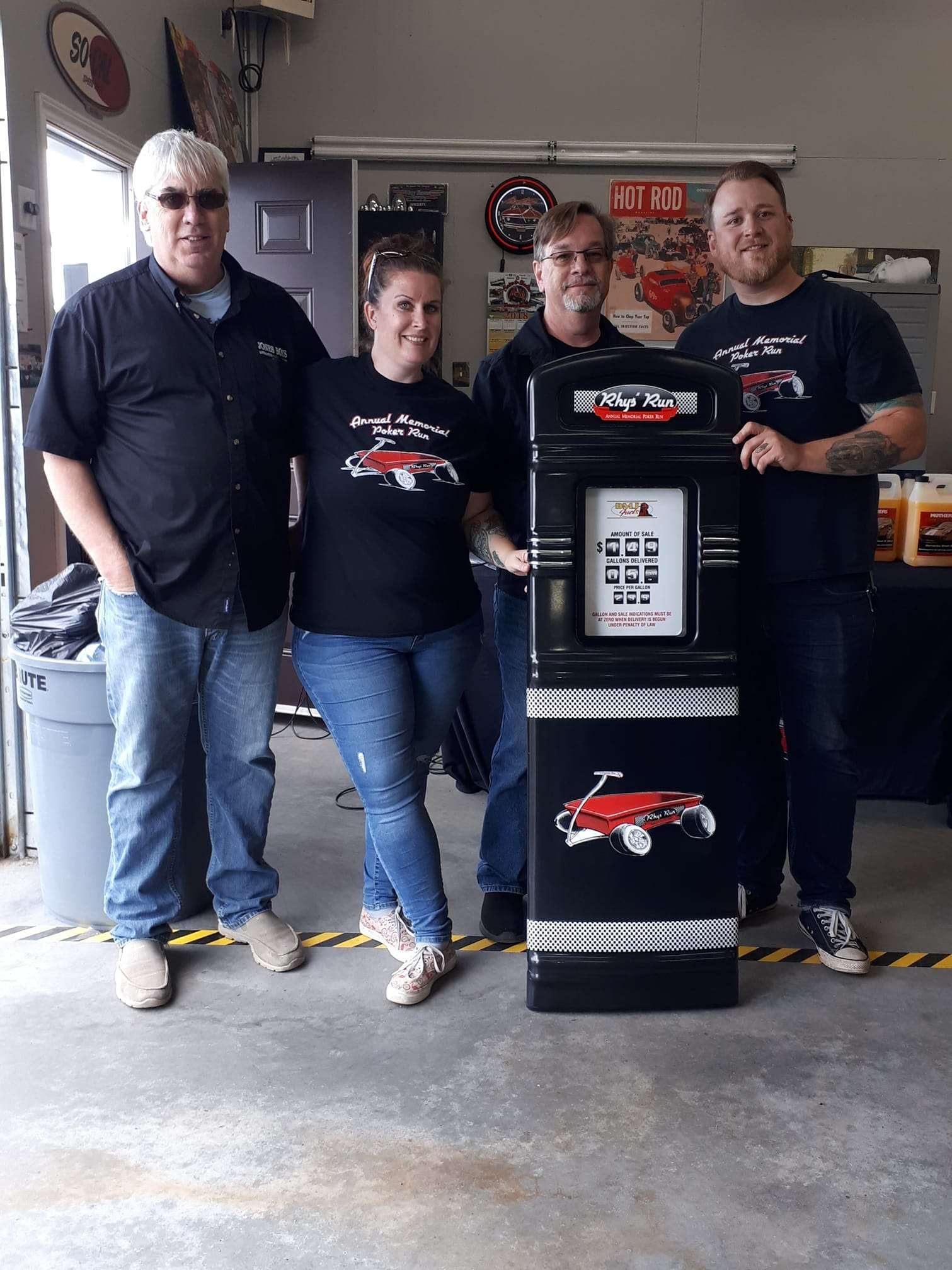 Rhys Run charity custom gas pump