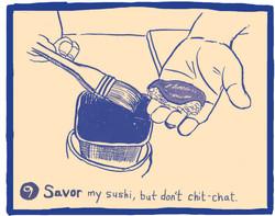 The Ten Commandments of Sushi #9