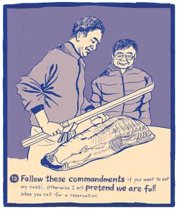 The Ten Commandments of Sushi #10