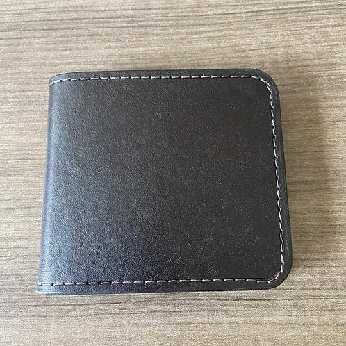Leather money clip wallet - plain