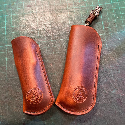 Pocket Knife Slip Case (Pull Up Leather)