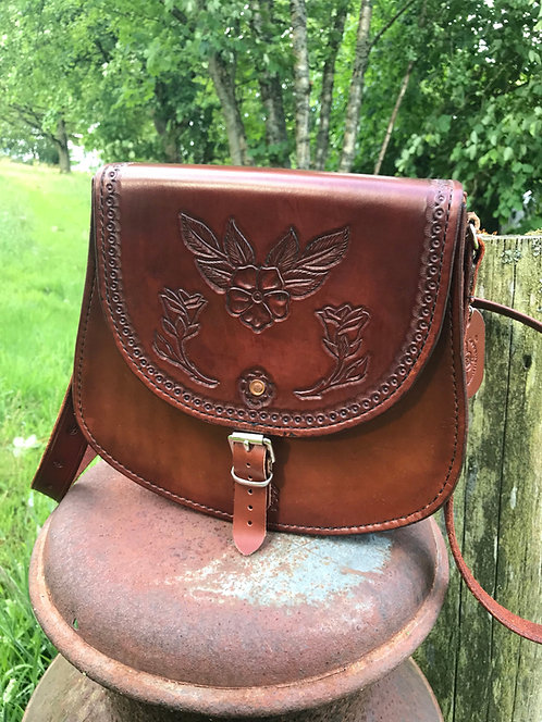 Handmade Leather Horseshoe Handbag.