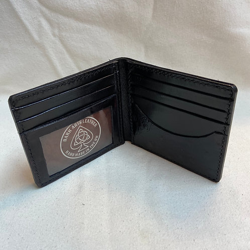 Bill fold Card to Wallet - Ostrich effect - Black