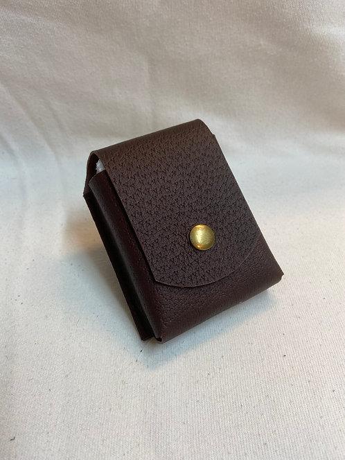 Playing Card Case - Brown Pigskin