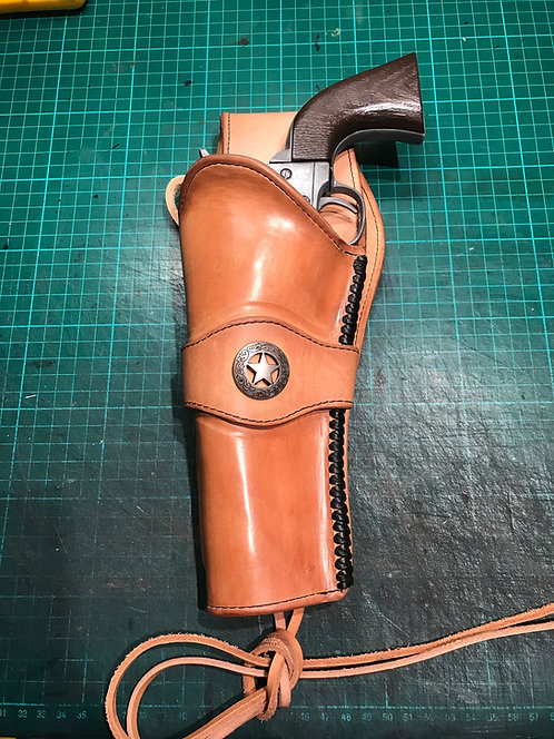 Handmade Leather holster for a Colt Peacemaker style revolver (LEFT HANDED)