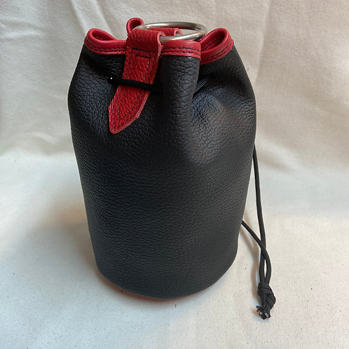 Buskers coin Bag - Black with red trim