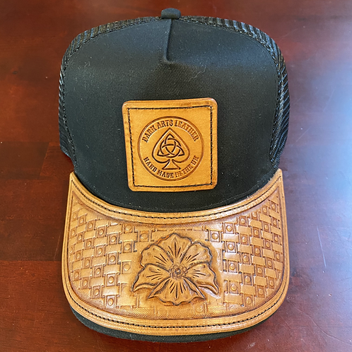 Trucker Cap with leather peak & Patch