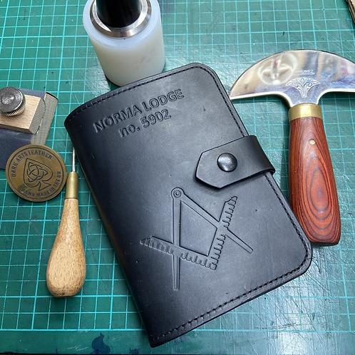 Handmade Leather Masonic Ritual Book Cover