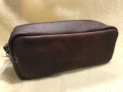 Handmade Leather Wash bag / Dopp kit