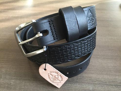 'Basket weave'  Leather Belt - Made to Order**