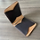 Thumbnail: Leather money clip wallet - Eagle feather